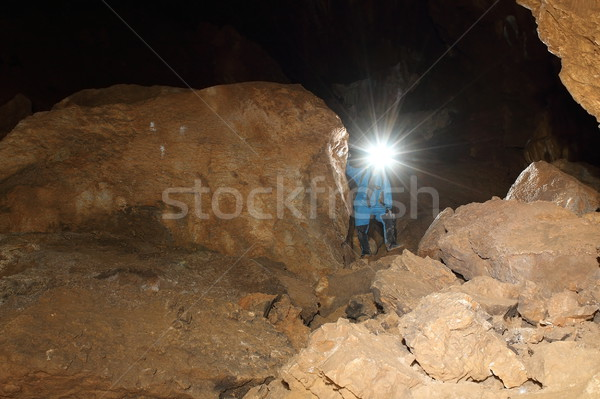 speleologist in cave Stock photo © taviphoto