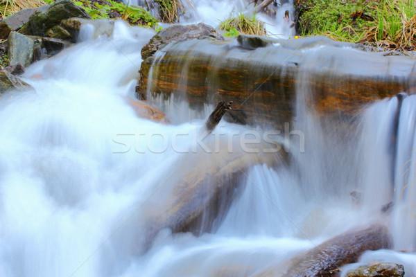 Kaskada wiosną piękna wodospad w górę góry Zdjęcia stock © taviphoto