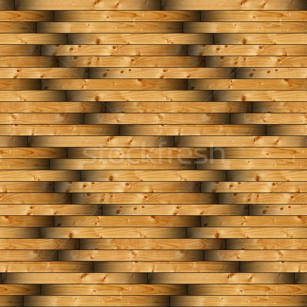 spruce wooden tiles on floor pattern Stock photo © taviphoto