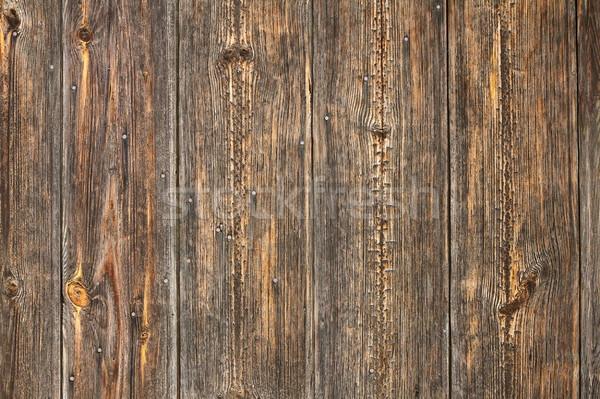 spruce planks on old fence Stock photo © taviphoto