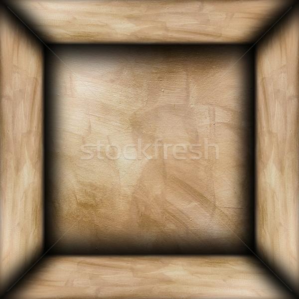 Streszczenie brązowy gipsu pokój architektoniczny pusty Zdjęcia stock © taviphoto