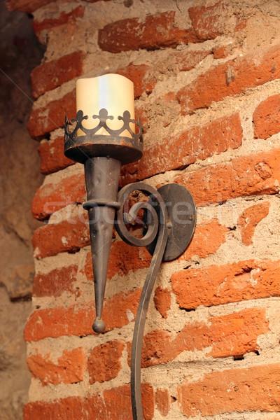 Muro lume di candela grunge seminterrato vecchio Foto d'archivio © taviphoto