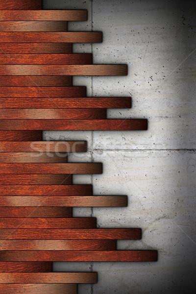 installation of cherry planks Stock photo © taviphoto