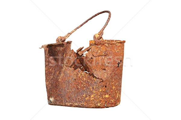 isolated rusted military mess tin Stock photo © taviphoto
