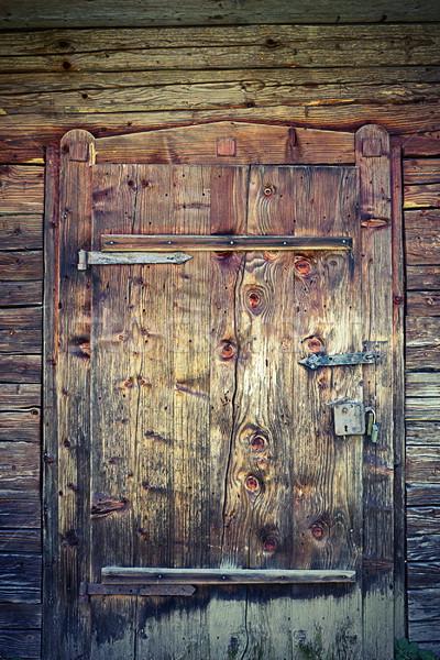 двери старом доме старые традиционный дома Сток-фото © taviphoto