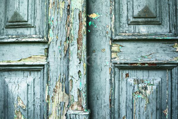 塗料 層 古い ドア 木製 ストックフォト © taviphoto