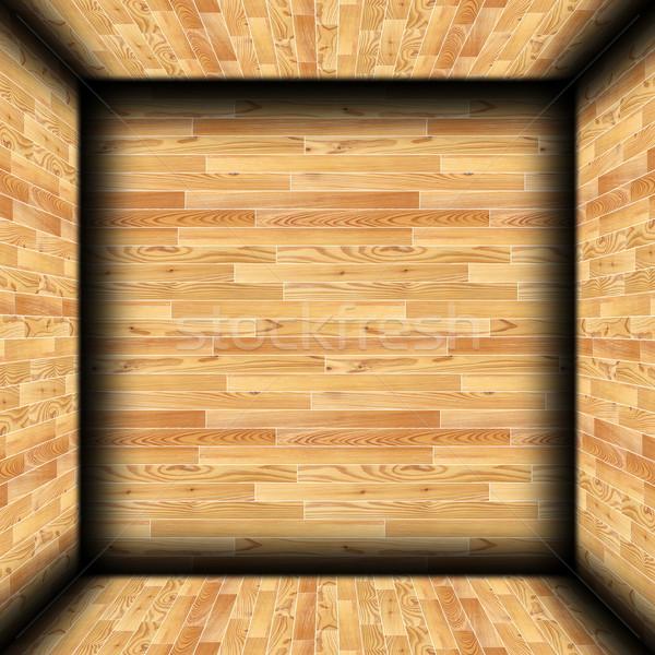 wooden cabin indoor background Stock photo © taviphoto