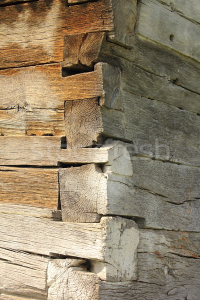 exterior corner of traditional wooden church Stock photo © taviphoto
