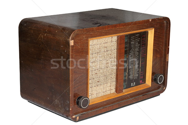 very old isolated radio Stock photo © taviphoto