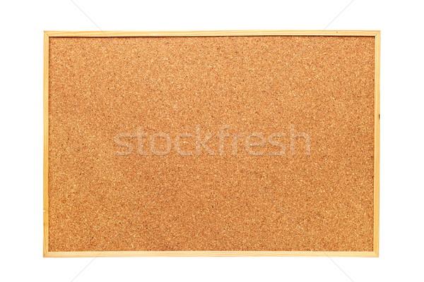 Izolált parafa tábla fehér kész iroda textúra Stock fotó © taviphoto