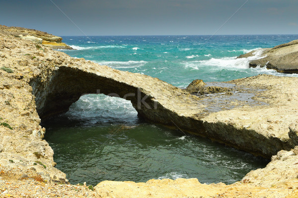 natural rock bridge in Milos island Stock photo © taviphoto