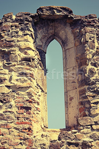 gothic window on old monastery Stock photo © taviphoto