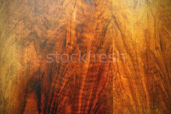 Piękna dąb sklejka tekstury starych meble Zdjęcia stock © taviphoto