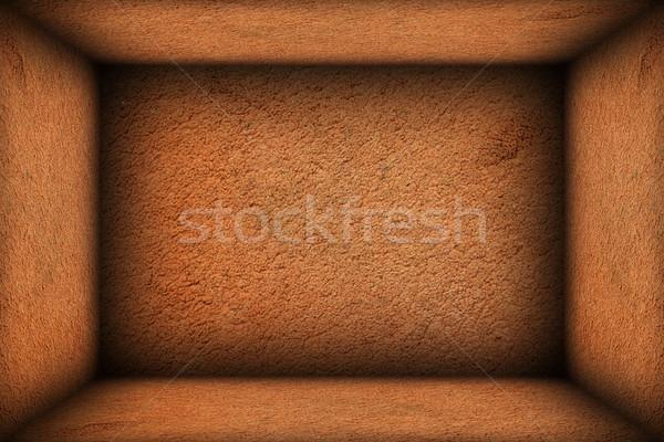 Streszczenie minimalny wnętrza tle starych brązowy Zdjęcia stock © taviphoto