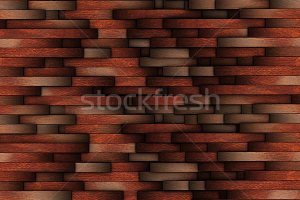 Mahagóni absztrakt fából készült fal terv sok Stock fotó © taviphoto