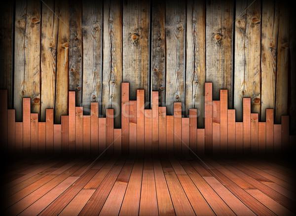 Interior madeira fundo piso parede dois Foto stock © taviphoto