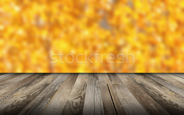 beautiful view from wooden balcony Stock photo © taviphoto