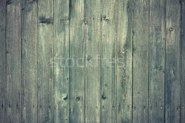 Grünen gemalt alten Fichte Planken Textur Stock foto © taviphoto