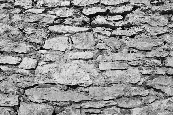 Siyah beyaz doku taş duvar eski inşaat taş Stok fotoğraf © taviphoto