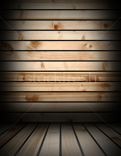 interior backdrop with wooden materials Stock photo © taviphoto