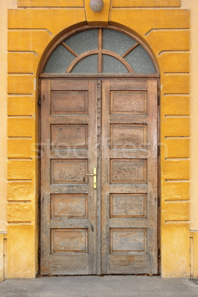 Foto stock: Velho · tradicional · porta · edifício · fachada