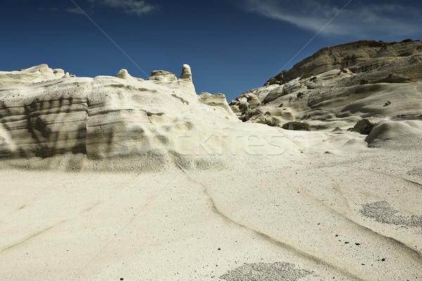 Részlet vulkáni kövek sziget vulkanikus kőzet falak Stock fotó © taviphoto