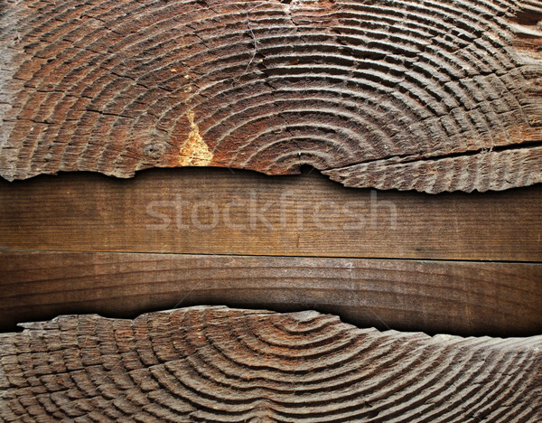 cracked spruce stump over plywood Stock photo © taviphoto