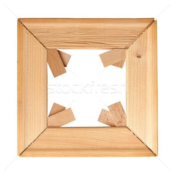 Stock photo: wood isolated painting  frame