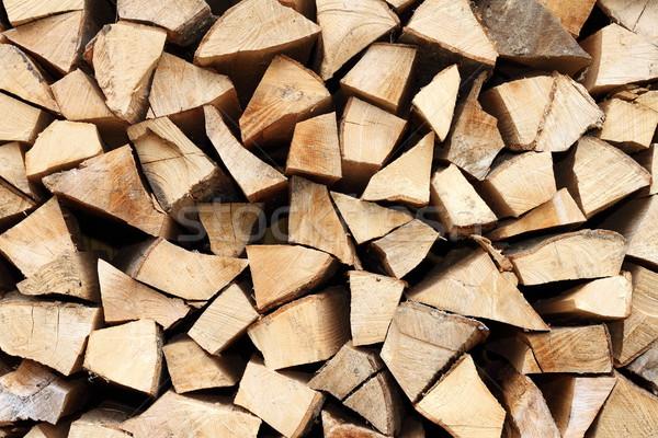 Foto stock: Fogo · madeira · picado · abstrato