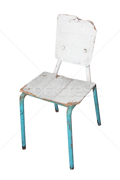 white damaged chair Stock photo © taviphoto