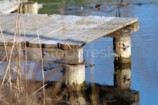 small wooden pontoon Stock photo © taviphoto