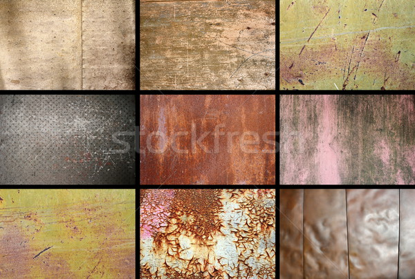 collection of rusty metallic surfaces Stock photo © taviphoto