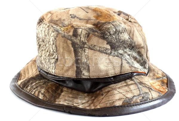 Kamuflaż polowanie hat moda tkaniny kolor Zdjęcia stock © taviphoto
