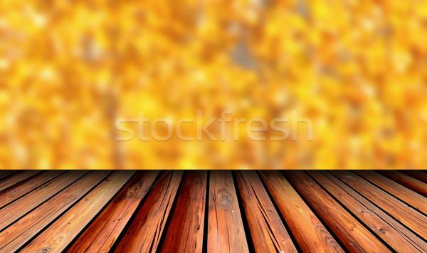 balcony view to autumn forest Stock photo © taviphoto