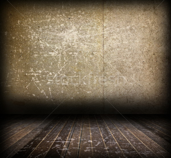 distressed interior backdrop with wood floor Stock photo © taviphoto