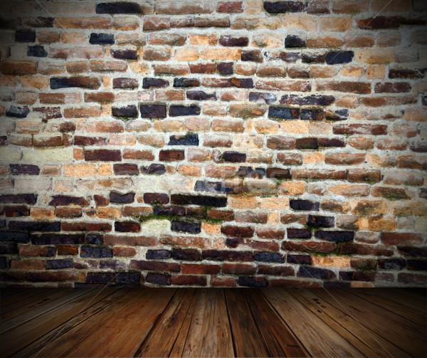 Fundo negligenciadas parede Foto stock © taviphoto