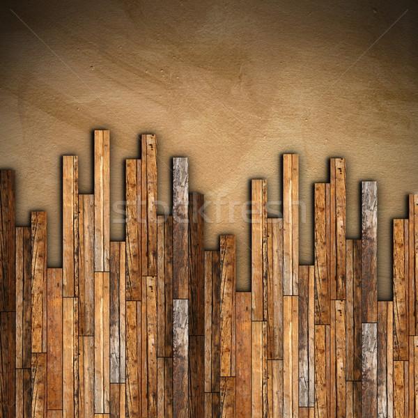 mahogany wooden parquet mounting Stock photo © taviphoto