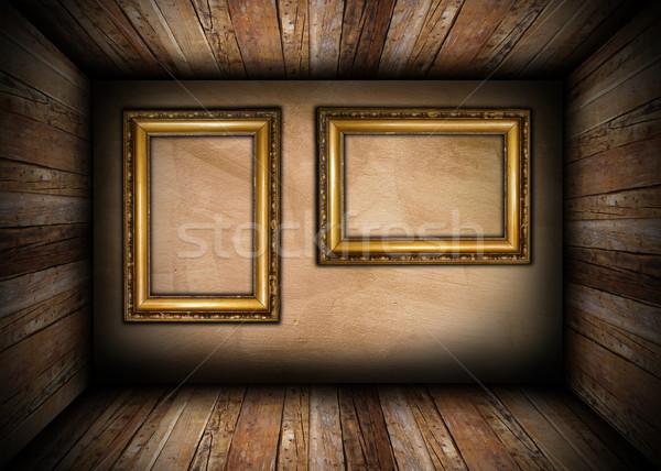 two old frames on interior wall stock photo © coroiu octavian ...