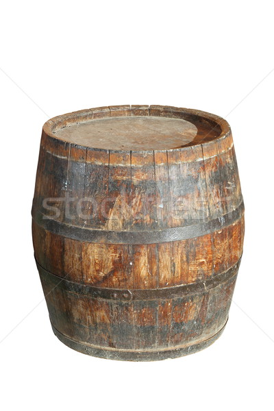 Isolé bois vin baril vieux blanche Photo stock © taviphoto