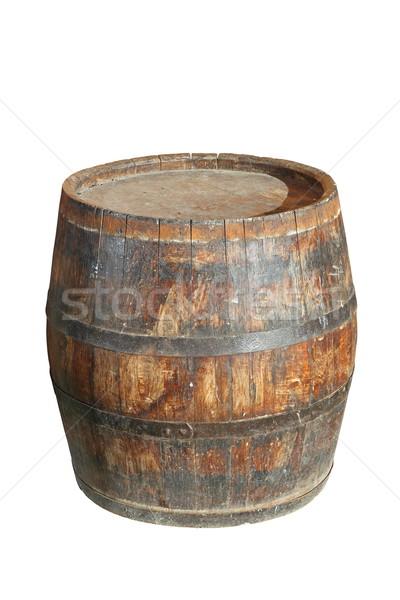 isolated wooden wine barrel Stock photo © taviphoto