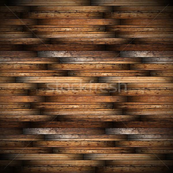 ősi mahagóni faburkolat terv gyönyörű minta Stock fotó © taviphoto