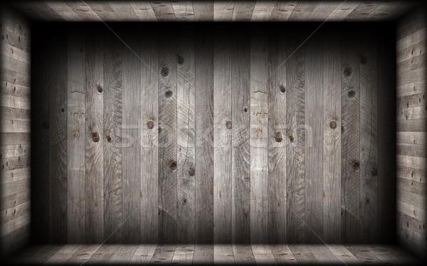 grey  wood finishing on empty interior backdrop Stock photo © taviphoto