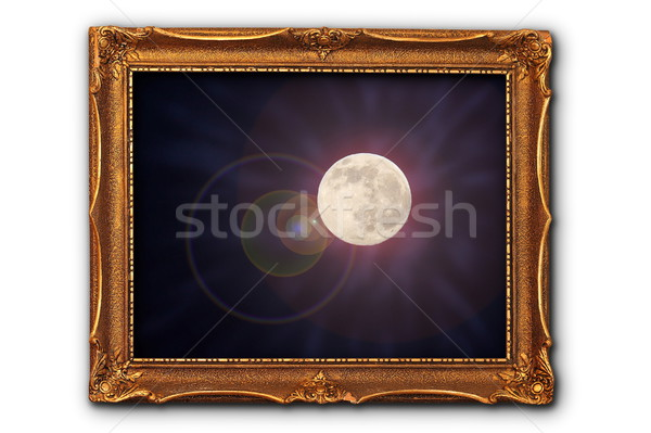 full moon image in painting frame Stock photo © taviphoto