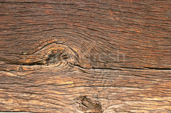 knot on beautiful old oak plank Stock photo © taviphoto