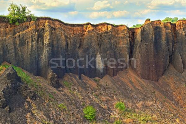 каменные стен старые заброшенный базальт синий Сток-фото © taviphoto