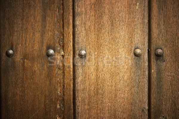 Сток-фото: подробность · дуб · старые · двери · реальный · текстуры