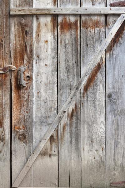 Velho rural porta edifício Foto stock © taviphoto