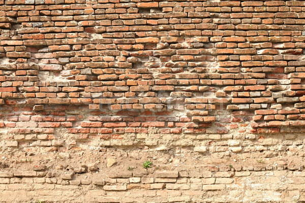 cracked bricks on ancient fortress Stock photo © taviphoto