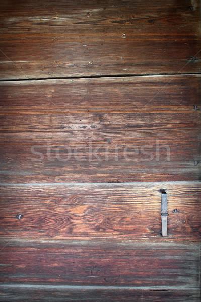 Enfeitar textura velho porta superfície Foto stock © taviphoto