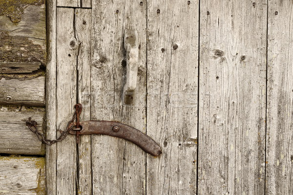 vintage wooden door locker Stock photo © taviphoto